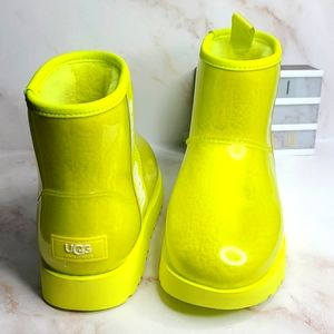 UGG waterproof Classic clear neon lime green